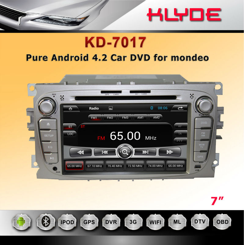 CE Rohs FCC DVB-t2 For mondeo Car Dvd Player Gps Software