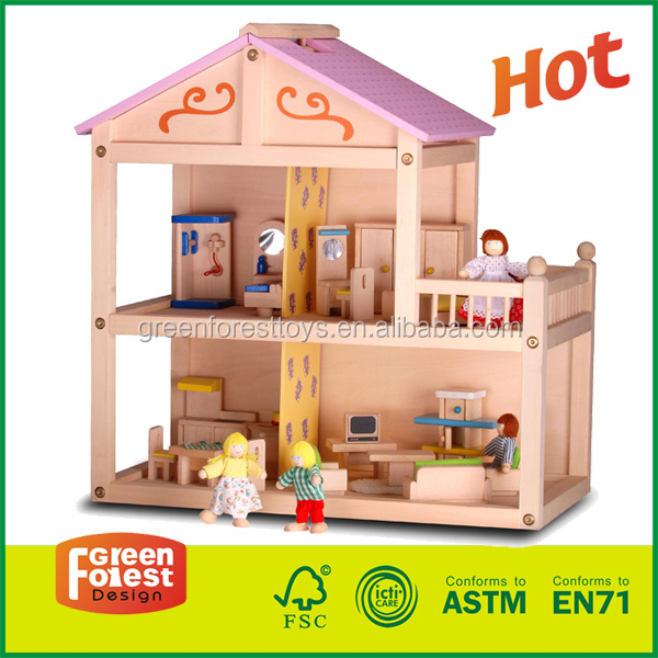 wooden toys miniature doll house furniture