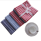 yarn-dyed red striped blue striped tea towel kitchen towel dish towel in stock