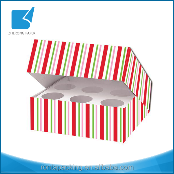 Appearance diverse eco-friendly cardboard strip deco tarts packaging box in low cost