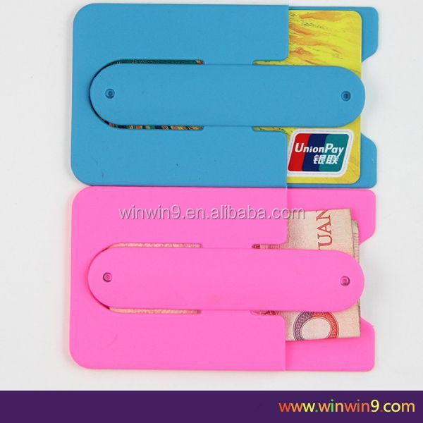 2015 new style mobile phone silicon holder,3m sticker for american express black card