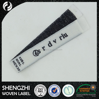 High grade center fold clothing label for ladies