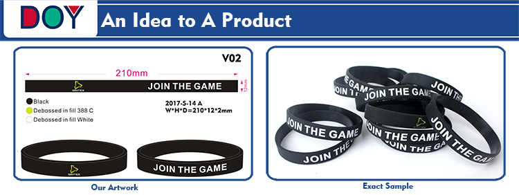 GYM Sports Wrist Band Maker Custom Printed Brand Name Logo Soft Rubber Silicone Bracelets for Men