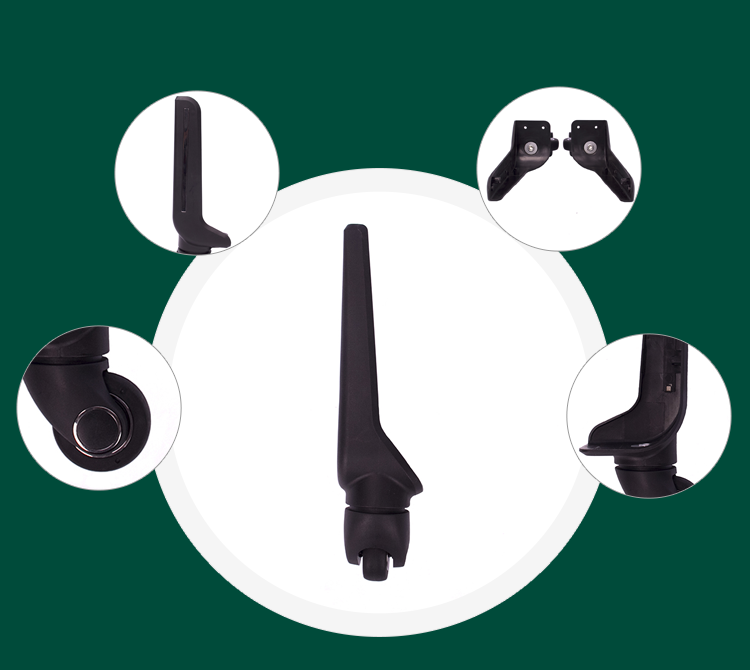 Luggage wheel replacement parts