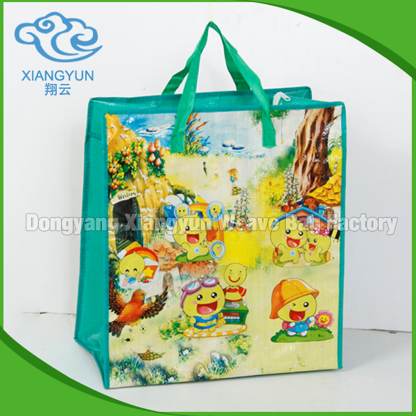 Customized Durable Logo Printing PP Woven Shopping Bag