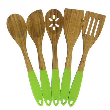 2019 New Design Bamboo Utensils With Colorful Rubber Grip - Buy Colorful  Kitchen Utensils,Bamboo Kitchen Utensils,Colorful Kitchen Utensils Set ...