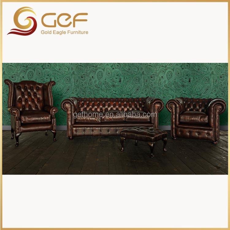 Grandi Disegni Antico Chesterfied divano in pelle-Divani ...