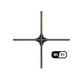 GIWOX HOLO-100cm 3D hologram fan WiFi 4 blades 3d projector Resolution 1080P 8GB 3d led projector for indoor outdoor use