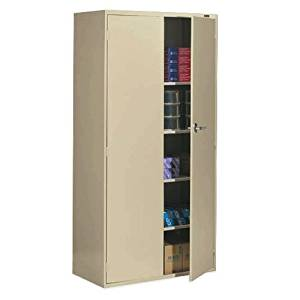 "Global Office 9300 Series Economy 72"" Vertical Metal Storage Cabinet - Desert Putty"