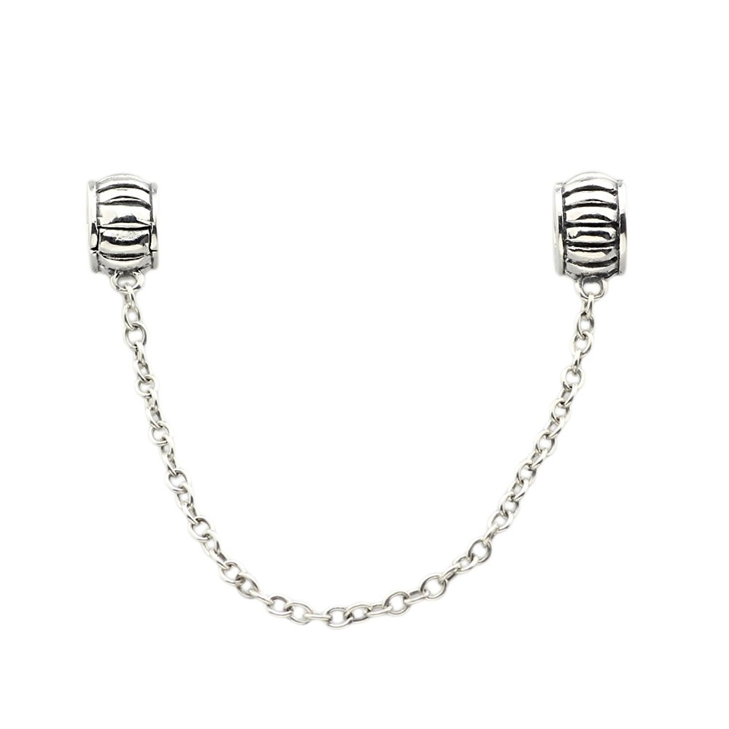 Clip Stopper/spacer .925 Sterling Silver Bead Charm Safety Chain