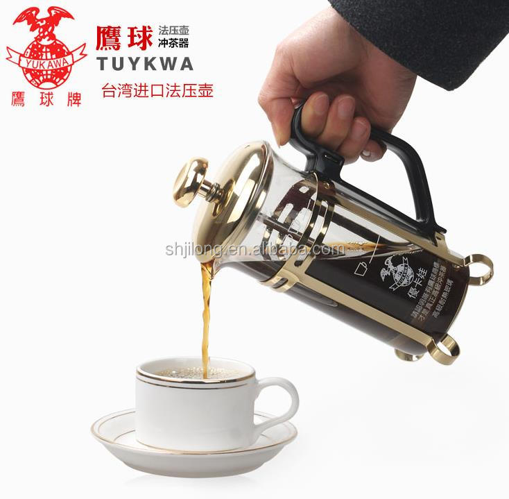 300ml Edelstahl French Press / Kaffeekanne / Kaffeemaschine, Teekanne / Kaffeemaschine aus Taiwan