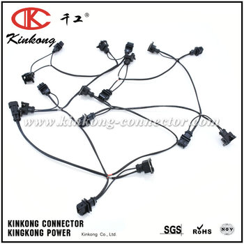 China manufacture High quality Electrical wire harness/Electronic equipment Male and Female cable assemblies