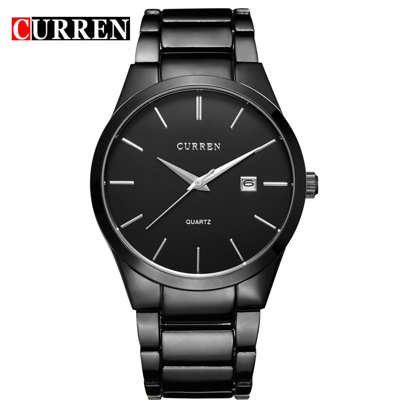 8106 CURREN Luxury Brand Full Stainless Steel Analog Display <strong>Date</strong> Men's Quartz Watch Business Watch Men Watches