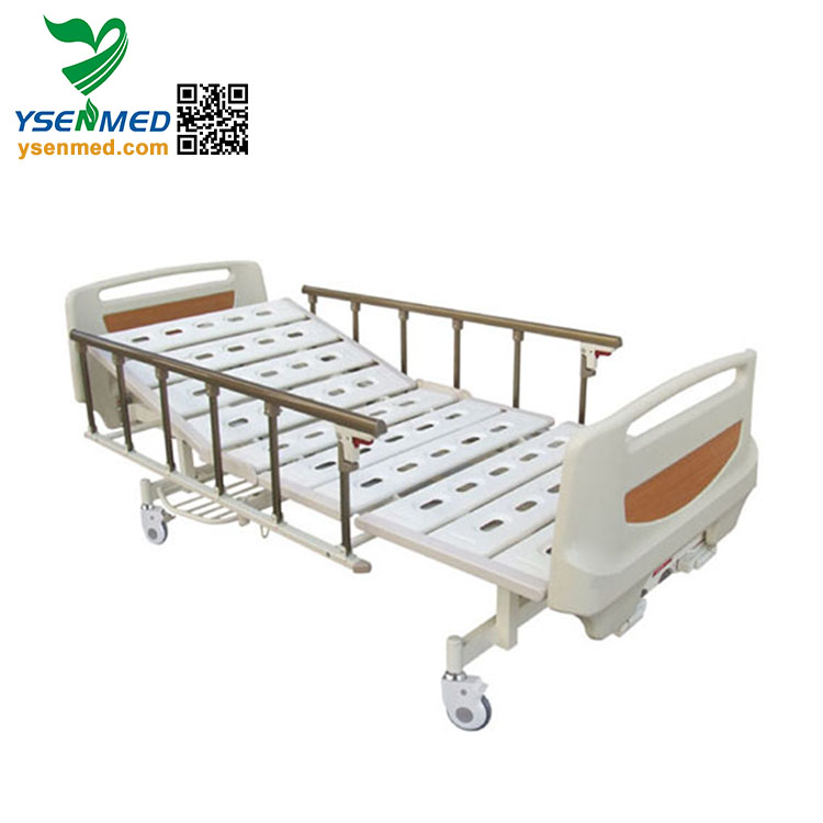 China Supplier hospital recliner 2 cranks manual hospital chair bed