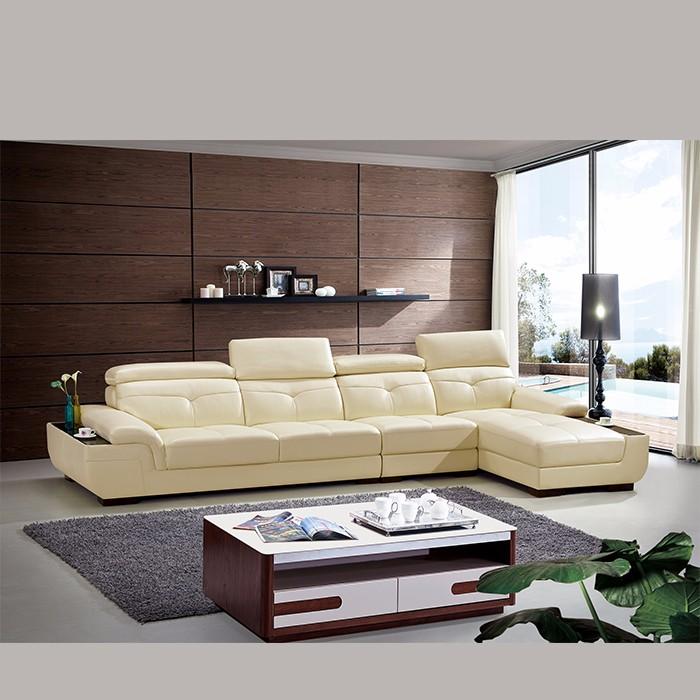 Buy Living Room Sets: Royal Elegant Living Room Furniture Sets Full Leather Sofa