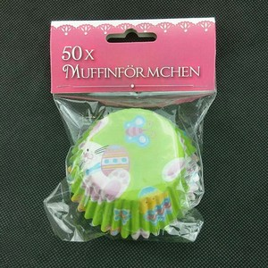 Green flower disposable paper cup cake