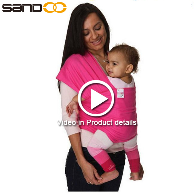 Hot sale brand custom breathable cotton baby carrier wrap
