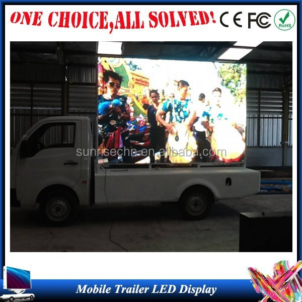 led display text screen/led sign P6,p8,p10,p16 mobile truck advertisement for the back of a van hot sale in USA