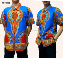 Reday made elegant wax katoen formele <span class=keywords><strong>dashiki</strong></span> shirts voor mannen maken in china