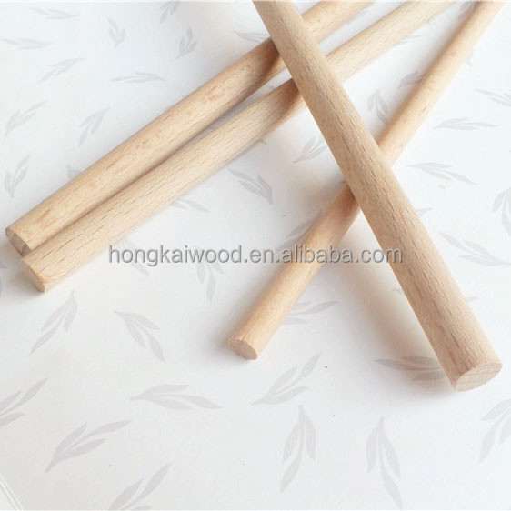 Customized solid sanding round wood dowel stick