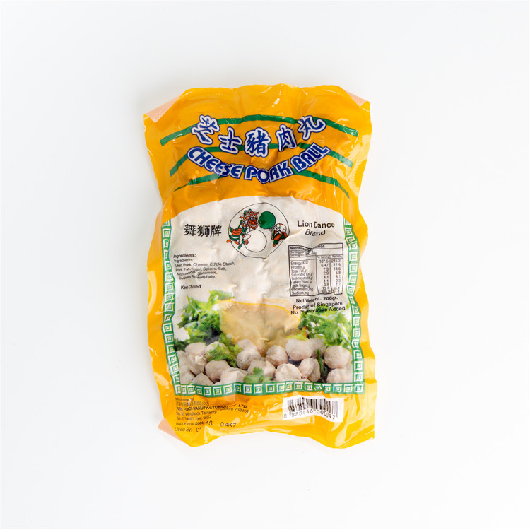 Wholesale Singapore Food Lion Dance Pork Cheese Ball