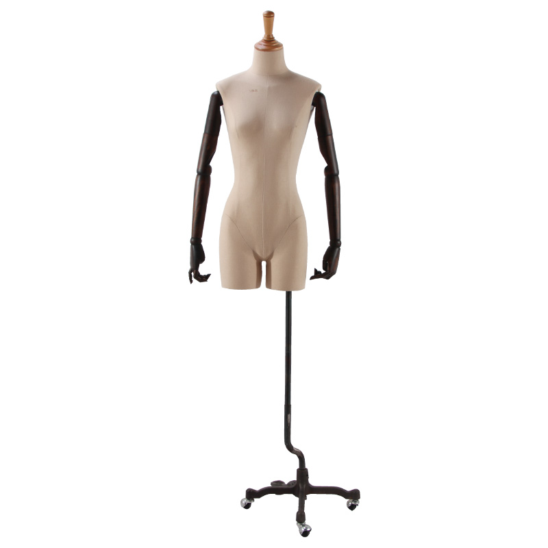 Best Choice Products half body stand Female wooden full size Mannequin Torso Dress Form Display