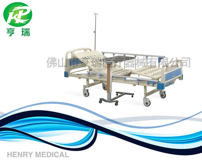 High quality HR-622 Henry double crank manual lift hospital bed