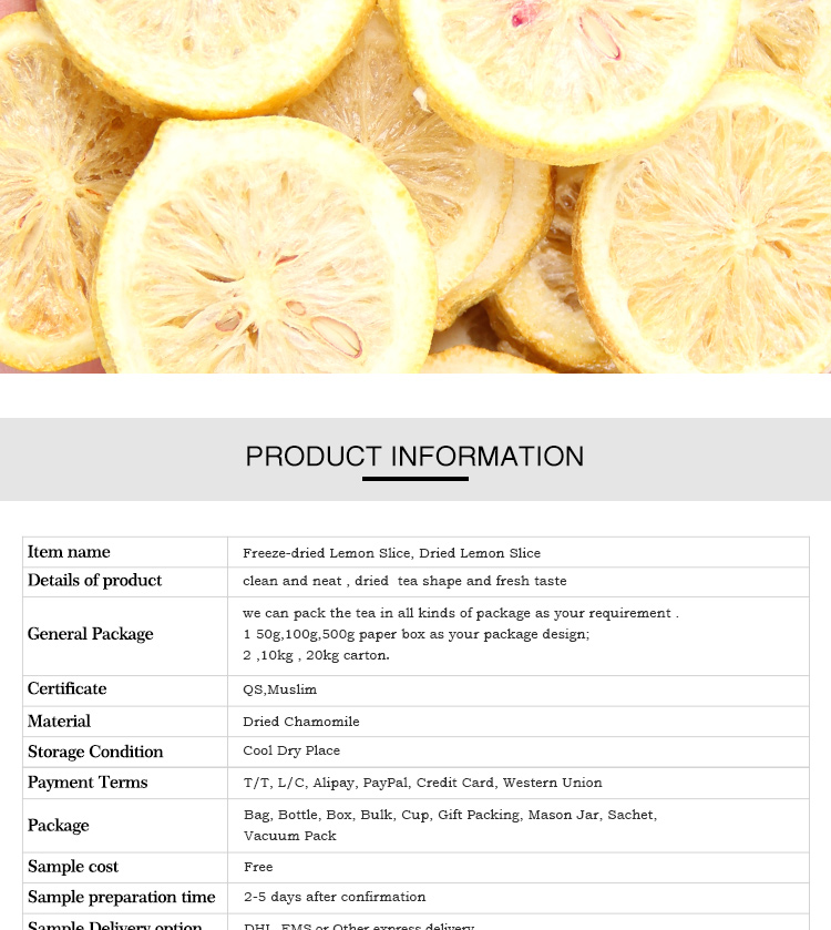 Lemon Wholesale Healthy Tea Chinese Dried Fruit Tea  Dried Lemon Peel