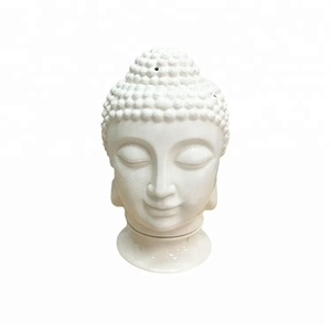 White Matte Tea Light Ceramic Porcelain Buddha Buddha Incense oil Burners
