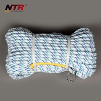 What is the breaking strength of standard nylon climbing rope?