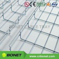 UL Certified Steel Zinc Galvanised Wire Cable Basket Tray for Low Voltage Wiring