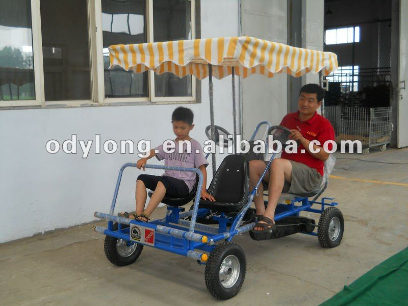 Hot sell Dual person go kart,Adult pedal car,4 person surrey bikes,pedal 4 wheel bike,4 person pedal go kart F4150