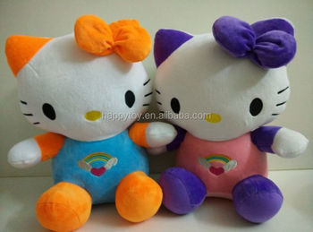 Hello Kitty Plush Toys : Hot selling cute navy blue dolphin hello kitty cat collection