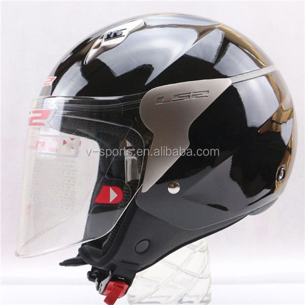 Light weight safety Open Face Motorcycle Helmet LS2 motor bike helmet for with long windshield washable and removable liner