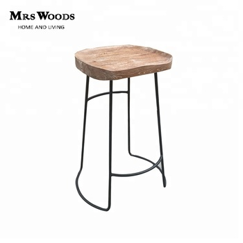 Groovy Triumph Solid Wood Seating Rustic Finishing Metal Iron Frame Industrial Bar Stools Oak Wood Barstool Buy Industrial Bar Stools Wood Bar Stools Wood Beatyapartments Chair Design Images Beatyapartmentscom