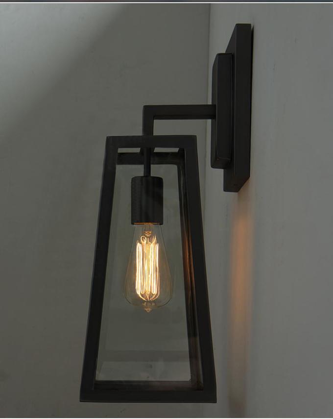 Modern Retro British Streetlight Style Industrial Glass Shade Cage ...