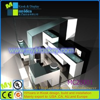 Factory online customize shopping mall retail store kiosk acrylic makeup display stand