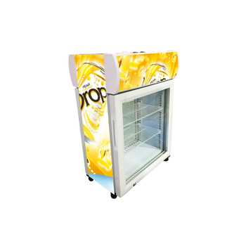 35L Meisda OEM/ODM 5-12 glass door display refrigerators with lampbox