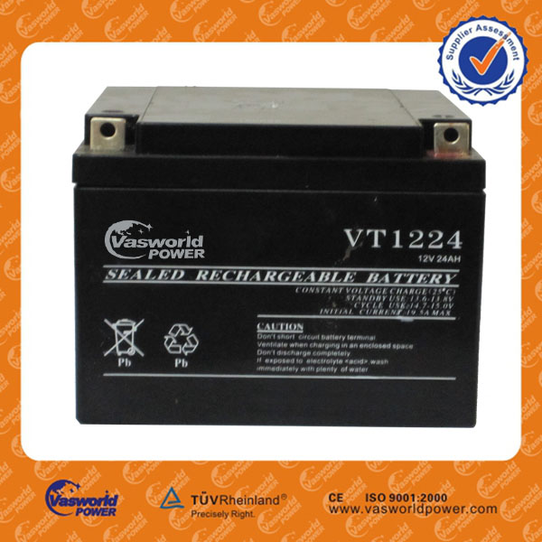 wholesale price AGM lead acid recharge UPS battery small 12 volt 12v 26ah ups inverter battery charger battery