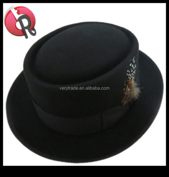 NEW Henschel Hats Black Red PORKPIE Wool Soft Felt Dress Fedora Top Hat NWT d5ca70617eb
