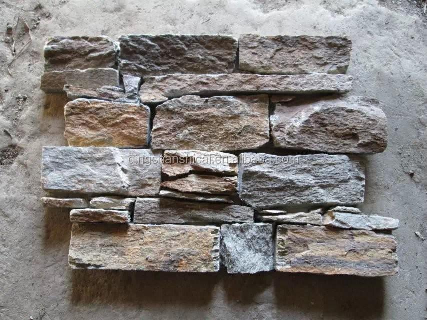 Ext rieur en b ton de ciment mur de corniche naturelle for Placage pierre exterieur