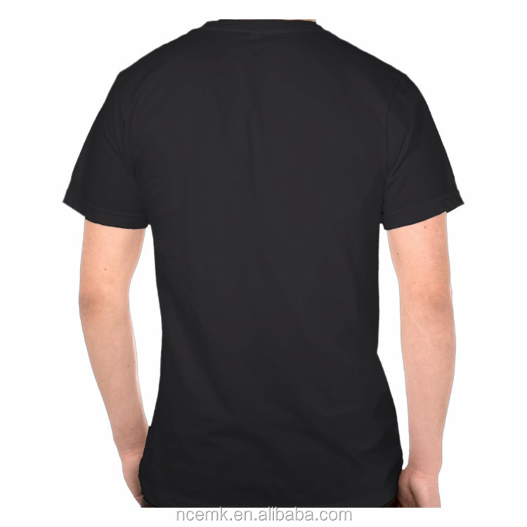 Round Neck Black Color Shirt With Simple Design Plain T-shirts ...