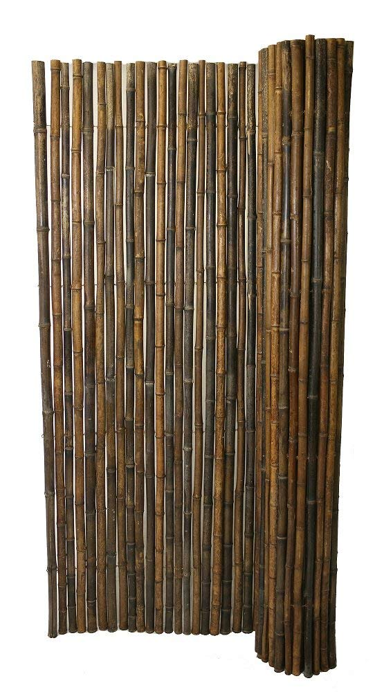 Buy Backyard X-Scapes Black Rolled Bamboo Fence 1in D x ...