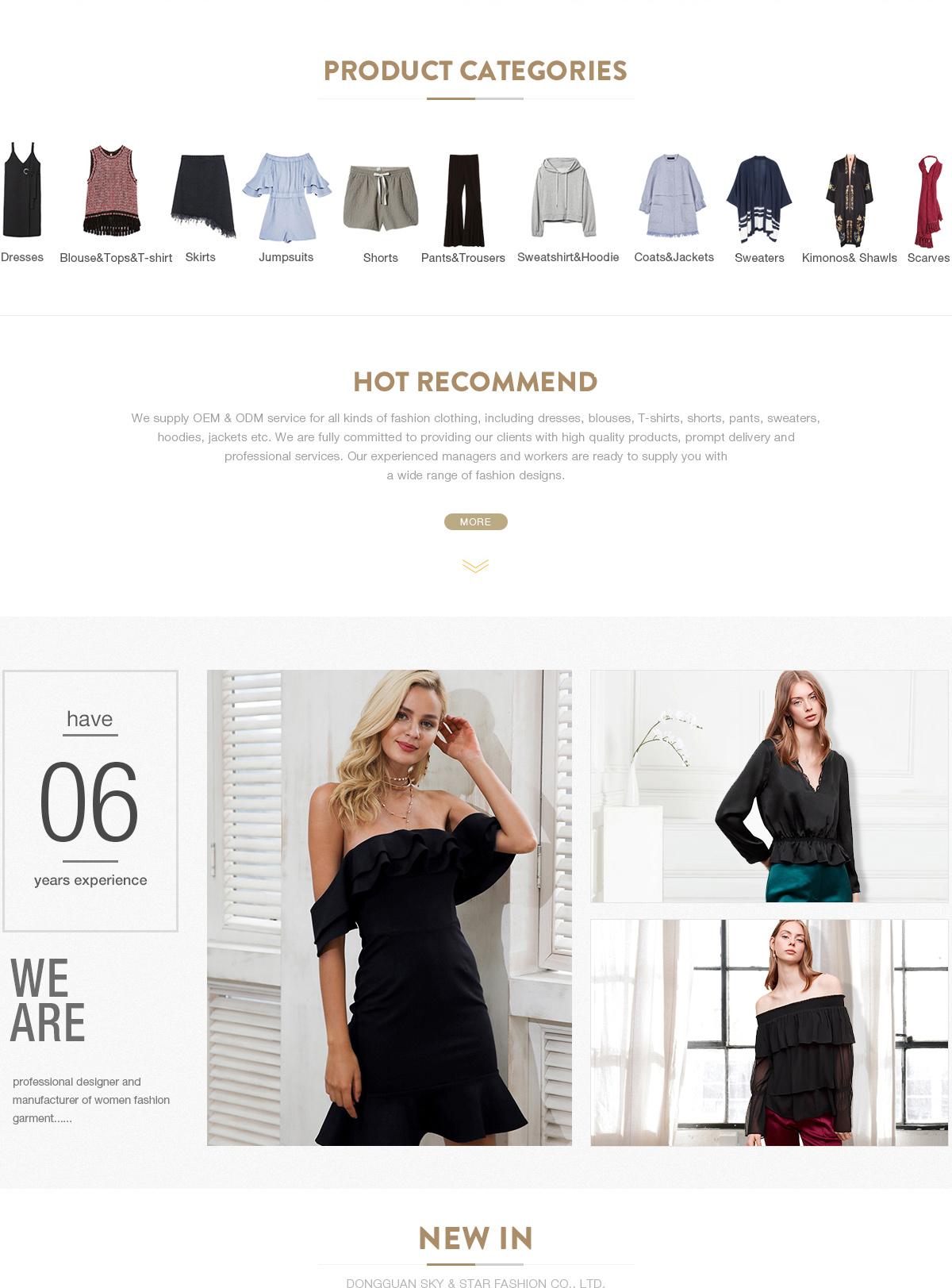 76a851aeac771 Dongguan Sky & Star Fashion Co., Ltd. - Ladies Casual Dress, Ladies ...