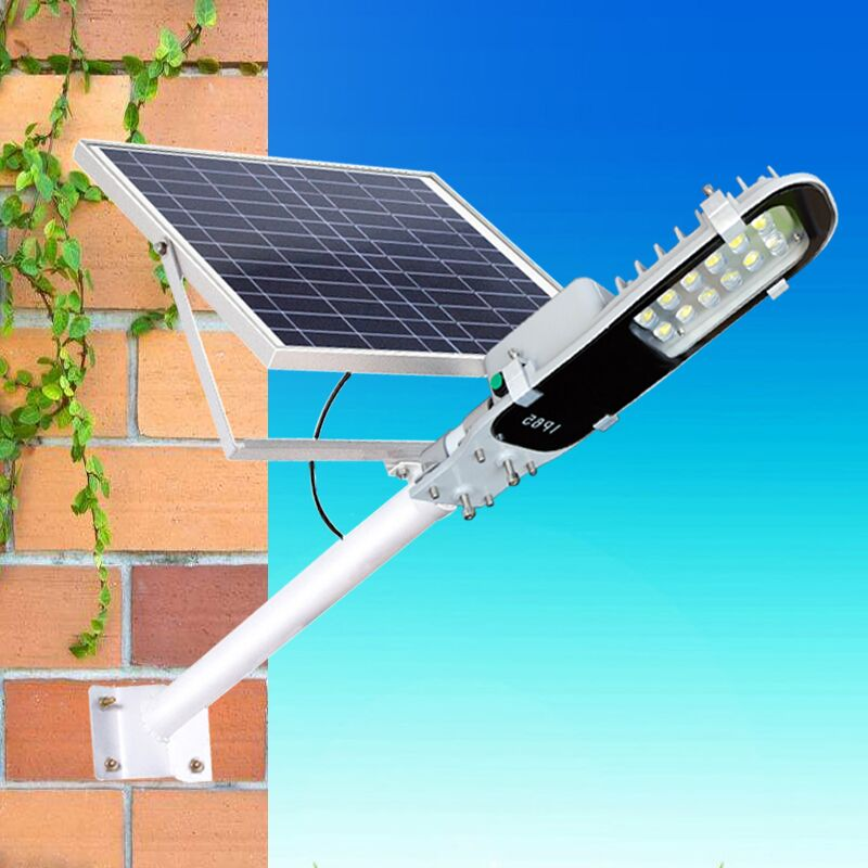 Time Control Solar Sensor Light Solar LED Street Light 15w Power 2 Days Backup For Remote Areas
