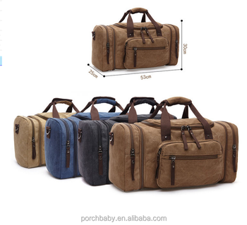 Heavy Duty Fashion High End Canvas Duffle Bags Whole Plain Duffel Bag