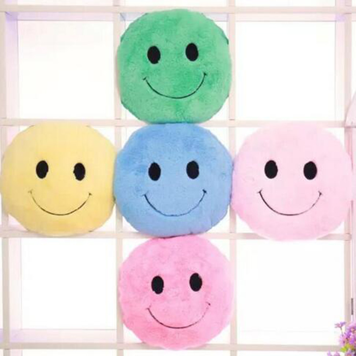 Round colorful Cushion smiley face soft toys FOR colorful Cushion