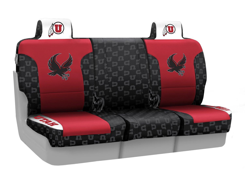 Coverking Front 40/20/40 NCAA Licensed Custom Fit Seat Cover for Select Isuzu NPR/NPR-HD/NQR Models - Neosupreme (University of Utah)