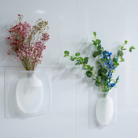 Clear Plastics Silicone Home Dector Flower Vase