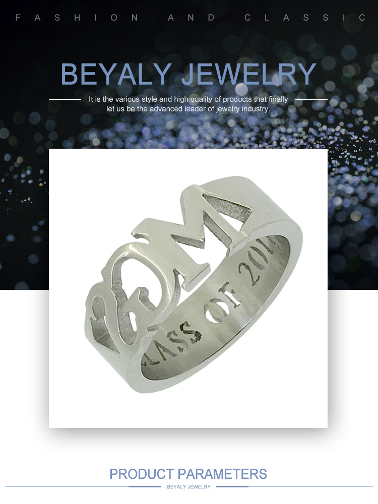 Wholesale custom letter 625 sterling silver jewelry